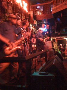 Band at Rum Boogie in Memphis on Beale Street