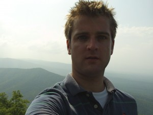Phil at the first overlook of the Blue Ridge Parkway
