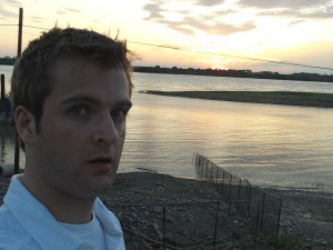 Phil on the Mississippi River in downtown Memphis